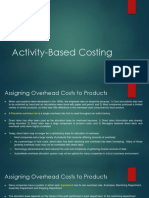 Activity-Based Costing (HO)