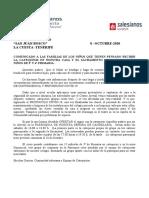 CARTA INFORMATIVA CATEQUESIS PADRES LA CUESTA 2020