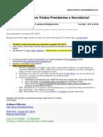 [Rotaract D.4670] Bem Vindos Presidentes e Secretários