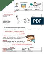 Guia No. 5 Lengua castellana TERCERO
