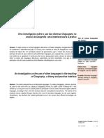 2 Ritas - Uma investigação sobre o uso das diversas linguagens no ensino de Geografia - uma interface teoria e prática