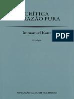 Kant, Critica da Razao Pura