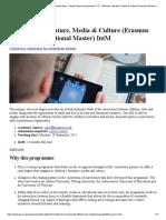 Children's Literature, Media & Culture (Erasmus Mundus International Master)