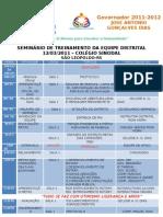 [D.4670] Rotary - Seminário de Treinamento da Equipe Distrital