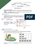 1° MATEMÁTICAS GUIAS  # 4 - TABLAS DE CONTEO