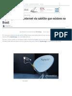 Veja os planos de internet via satélite que existem no Brasil - Tecnoblog