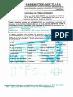 Certificado de Hermiticidad y Presion