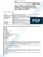 NBR 14916 - Papel E Cartao - Envelhecimento Acelerado - Tratamento Com Calor Seco A 120°C Ou