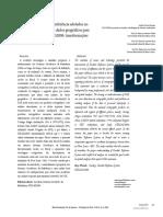 Sistemas geodésicos de referência adotados no Brasil e a conversão dos dados geográficos para o sistema oficial SIRGAS2000