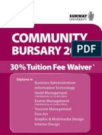 Community Bursary 2011