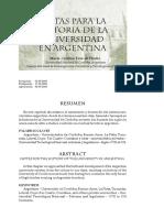 Vera de Flachs, Cristina - Notas para la historia de la universidad Argentina