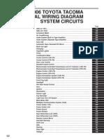 2006 Toyota Tacoma System Circuits