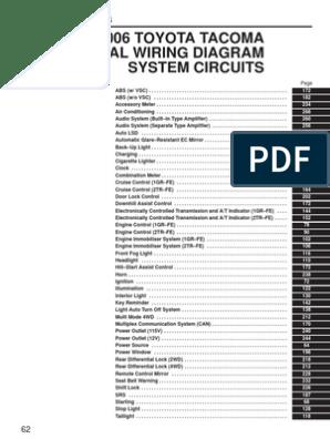 2006 Toyota Tacoma System Circuits   Land Vehicles   Technology &  EngineeringScribd