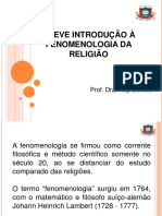 1.AULA 2 - Fenomenologia Da Religião