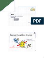 Cálculo da Carga Térmica de Edifícios. Ganhos Úteis