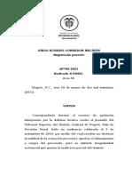 ALLANAMIENTO A CARGOS, VICIO CONSENTIMIENTO, PROCEDIMIENTO PARA ANULAR. 58461-21