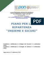 """PIANO PER LA RIPARTENZA """"INSIEME E SICURI"""""""