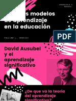 David ausubel presentación