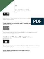Pasar datos de una tabla a un modal - PHP