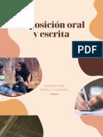 Exposición oral y escrita