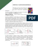 ORIGEN,  caracteristicas y clasificacion de materiales