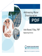 Addressing Water Discoloration