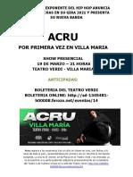 Acru Gacetilla Villa Maria