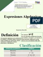 V28466081 Unidad 1 Expresiones Algebraicas