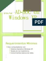 Red AD-HOC en Windows XP