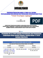 Sosialisasi Muatan PP 22 Tahun 2021-(Terkait PL)