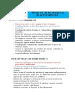 ROLES DU CHARGE DE SUIVI EVALUATION
