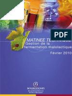 Gestion de fermentation malolatique