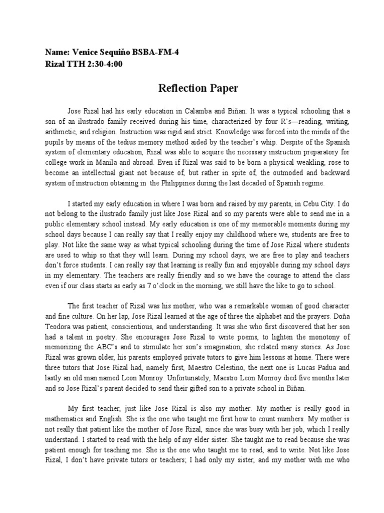 reaction paper during the spanish regime in the philippines Noli me tangere is a novel by filipino being spain the mother and the philippines the daughter) during the and abuse by the country's spanish government.