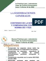 3- COMPARACIÓN ISO 17025 y BPL OMS