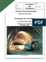 Grundlagen Des Tunnelbaus_TU Dresden_Spang