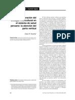 Incorporación del enfoque intercultural en el sistema de salud peruano__ la atención del parto vertical
