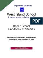 Upper School Handbook for 2008