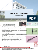 Tests on Concrete