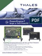 Thales Computers Powerengine7 Vmebus Cpu Boards Bd1