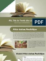 Ppt Nilai, Etika, Dan Estetika Dalam Pendidikan