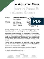 Spaghetti Feed, Talent Show, & Dessert Contest (2011.03.12)
