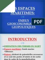 les espaces maritimes, enjeux géoéconomiques et géopolitiques