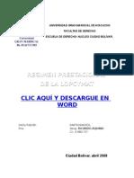 REGIMEN PRESTACIONAL DE LA LOPCYMAT