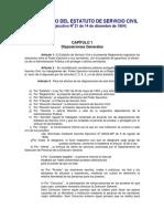 Reglamento Estatuto Servicio Civil