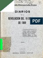 Diarios de La Revolucion Del 16 de Julio de 1809 (1)(Online)