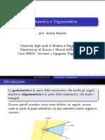 Goniometria - Tringonometria