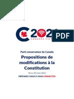 Congrès du Parti conservateur / Propositions de modifications à la Constitution