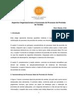Aspectos Organizacionais e Funcionais do Processo de Previsão de Vendas