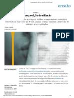 A imposição do silêncio _ Opinião _ EL PAÍS Brasil