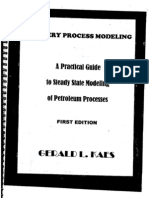 Steady state modelling Petroleum Process - Gerald year 2000